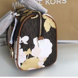 df7c97630850 Michael Kors Bags   Mk Satchel Crossbody Aria Bagbrown Floral   Poshmark
